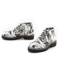 McQ by Alexander McQueen Martin Lace Up Derby Boots White Manga - Lyst
