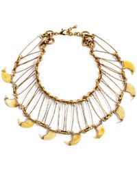 Lulu Frost Cleo Statement Necklace gold - Lyst