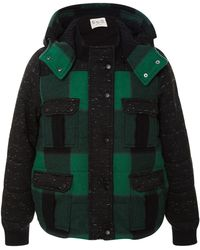 Sea Buffalo Plaid Puffer Jacket - Lyst