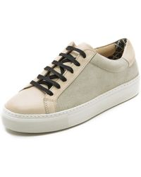 By Malene Birger - Ceall Lace Up Suede Sneakers - Black - Lyst