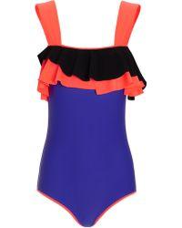 Roksanda Ilincic Violet Rafiya Swimsuit - Lyst
