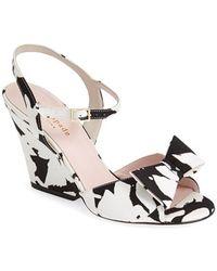 Kate Spade Women'S 'Imari' Satin Ankle Strap Sandal - Lyst