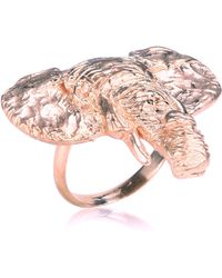 Dominique Lucas - Elephant Ring Rose Gold - Lyst