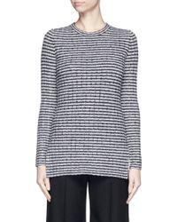 Theory | 'belira' Wool Stripe Mélange Knit Sweater | Lyst