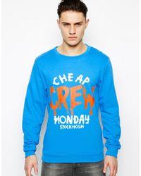 Cheap Monday Sweatshirt with Print - Lyst