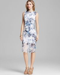 Cynthia Steffe Dress Riva Sleeveless Silk Georgette Print - Lyst