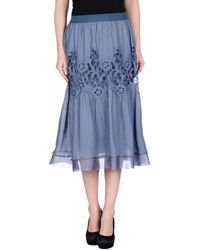 Ermanno Scervino 3/4 Length Skirt blue - Lyst