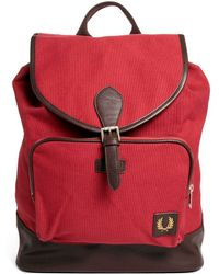 Fred Perry - Classic Backpack in Maroon - Lyst