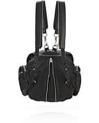 Alexander Wang | Mini Marti In Black Leather And Nylon With Rhodium | Lyst