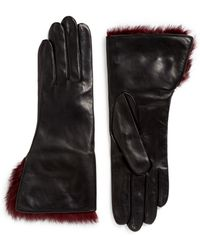 Georges Morand - Rabbit Fur Lamb Leather Gloves - Lyst