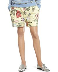 Gucci Flora Knight Print Cotton Canvas Short - Lyst