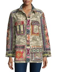 Calypso St. Barth - Nessa Button-front Embroidered Jacket - Lyst