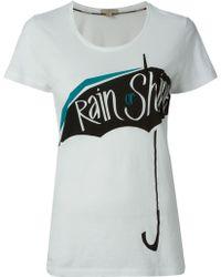 Burberry Brit Rain Or Shine Umbrella Print T-shirt - Lyst