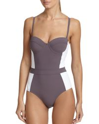 Tory Burch One-Piece Lipsi Colorblock Swimsuit white - Lyst