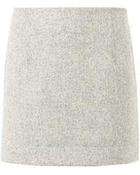 Atto - Textured-Wool Mini Skirt - Lyst