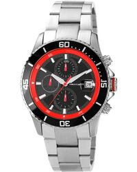 Vince Camuto - Mens Stainless Steel Aluminum Cavalier Chronograph Watch - Lyst