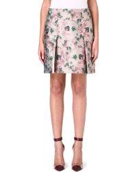 Erdem Metallic Floral Brocade Skirt - Lyst