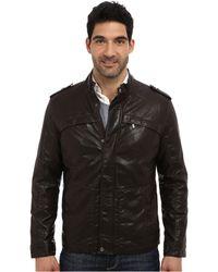 Perry Ellis Faux Leather Four-Pocket Jacket - Lyst