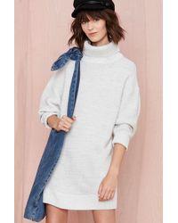 Nasty Gal Adrianne Sweater Dress - Lyst