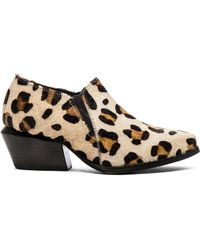 Urge   Veda Leopard-Print Ankle Boots   Lyst