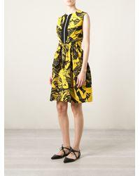 Carven Japanese Illustration Print Dress - Lyst