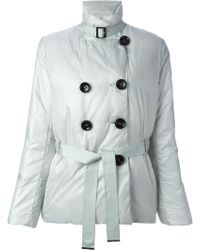 Emporio Armani Double Breasted Padded Jacket - Lyst