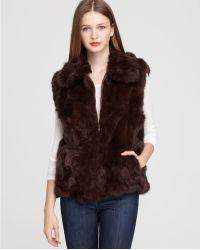 Surell - Long Hair Rabbit Vest - Lyst
