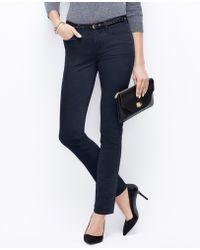 Ann Taylor Modern Skinny Velvet Pants - Lyst