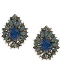 Catherine Stein - Cabochon Stone Stud Earrings - Lyst