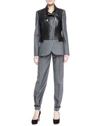 McQ by Alexander McQueen Belted Pleated Trousers Urban Gray - Lyst