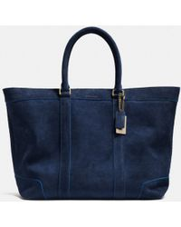 Coach Pop Trim Weekend Tote in Suede - Lyst