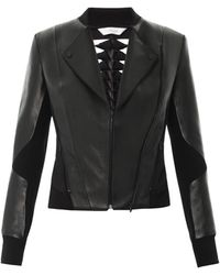 Dion Lee Leather Filter Jacket - Lyst