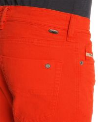 Diesel Tepphar Red Skinny Jeans - Lyst