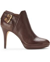 Vince Camuto Brown Elaina Booties - Lyst