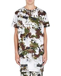 Off-White c/o Virgil Abloh | Camouflage Elongated T-shirt | Lyst