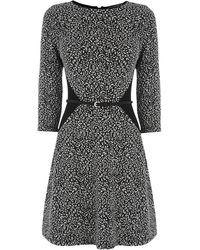 Oasis Textured Flippy Dress - Lyst