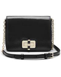 Diane von Furstenberg 440 Gallery Bellini Patent Leather Crossbody Bag black - Lyst