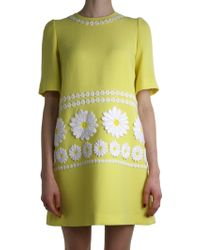 Dolce & Gabbana | Yellow Daisy Dress | Lyst