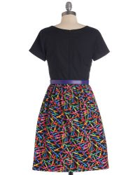 ModCloth Drawn To Style Dress - Lyst