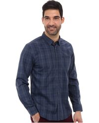 Calvin Klein Ls Yarn Dyed Exploded Ombre Plaid Woven Shirt - Lyst