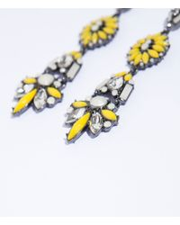 Zara Yellow Long Earring - Lyst