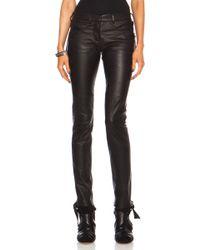 Isabel Marant Haper Leather Pant - Lyst