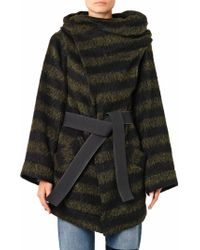 Vivienne Westwood Anglomania Talik Striped Wool Blend Coat - Lyst