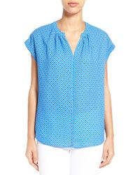 Pleione | Split Neck Top | Lyst