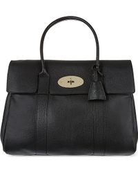 Mulberry Bayswater Glossy Goat Leather Bag Black - Lyst
