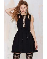 Nasty Gal We'Ve Got Tonight Lace-Up Dress black - Lyst