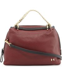 Halston Heritage Small Leather Satchel Bag - Lyst
