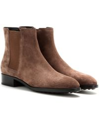 Tod's Suede Chelsea Boots - Lyst
