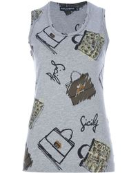 Dolce & Gabbana Bag Print Top - Lyst