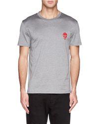 Alexander McQueen Skull Logo Print T-Shirt - Lyst